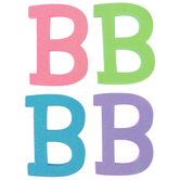 Glitter Foam Alphabet Letter Upper Case - B, 4 x 5.5 x .50 Inches, 1 Each, Assorted Colors