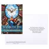 Nelson Fine Art & Gifts, God Bless You On Your Confirmation Greeting Card, 5 x 7 inches