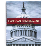 BJU Press, American Government Activities Answer Key, 4th Edition, Spiral, 168 Pages, Grade 12