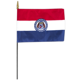 Annin Flagmakers, Missouri State Flag, Polyester, 8 x 12 inches