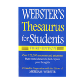 Webster's Thesaurus for Students, Third Edition, Paperback