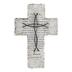 Matthew 6:9-13 Lord's Prayer Wall Cross, Resin, Gray, 10 x 6 3/4 x 3/4 inches