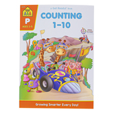 School Zone, Counting 1-10 Preschool Workbook, Paperback, 64 Pages, PreK-K