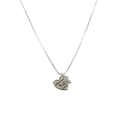 Bella Grace, Joel 2:25 All You Need is Faith Pendant Necklace, Silver, 18-inch Chain