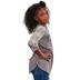 Southern Grace, Kind Heart Fierce Mind Brave Spirit, Kid's 3/4 Lace Sleeve T-shirt, Grey, Ages 10-12