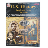 Carson-Dellosa, U.S. History People and Events 1607-1865, Paperback, 96 Pages, Grades 6-12