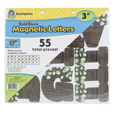 Teacher Created Resources, Eucalyptus Bold Block Magnetic Letters, 3 Inches, 55 Pieces