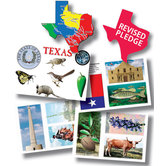 Top Notch Teacher Products,Texas Bulletin Board Set, Multi-Colored