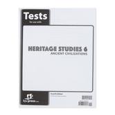 BJU Press, Heritage Studies 6 Tests, Ancient Civilizations, 4th Edition, Paperback, Grade 6