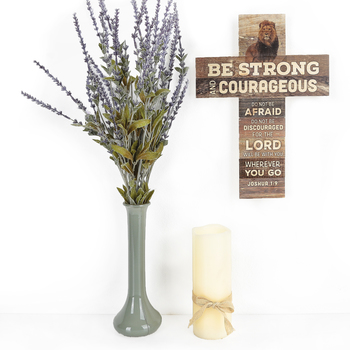 P. Graham Dunn, Joshua 1:9 Be Strong Wall Cross, MDF, 10 x 13 1/2 inches