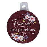 P. Graham Dunn, Friends Like You Magnet, Burgundy and White Floral, 2.75 inches