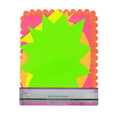 The Fine Touch, Neon Shapes Poster Board, 11 x 14 Inches, Assorted, 5 Pack