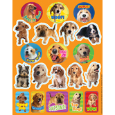 Eureka, Motivational Dog Stickers, 1 x 1 Inch, Multi-Colored, Pack of 36