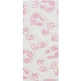 Brother Sister Design Studio, Tissue Paper, Pink Baby Hand & Feet Prints, 20 x 20 inches, 8 Sheets