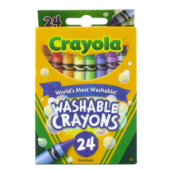 Crayola, Washable Crayons, 24 Pieces