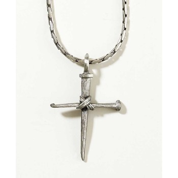 Dicksons, Nail Cross Necklace, Pewter, 21 inches