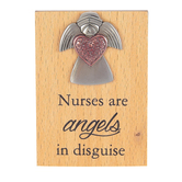 Ganz, Nurses Are Angels In Disguise Mini Desk Plaque, 2 x 2 3/4 inches