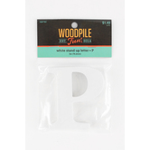 Woodpile Fun, Stand Alone Wood Letter - P, 3 inches, White