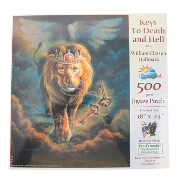 SunsOut, Inc., Keys To Death and Hell Jigsaw Puzzle, 500 Pieces, 18 x 24 inches Completed