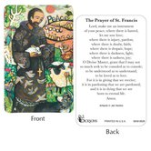 Dicksons, St. Francis of Assisi Pocket Card, 2 1/2 x 3 7/8 inches