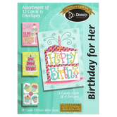 Divinity Boutique, Birthday Sweets for Her Boxed Birthday Cards, 12 Cards with Envelopes