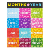 Renewing Minds, Months of the Year Chart, 17 x 22 Inches, Multi-Colored, 1 Each