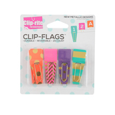 Clip-rite, Clip-Flags with Gold Foil Accents, 5 Each of 4 Designs