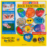 Faber-Castell, Creativity for Kids, Hide & Seek Rock Painting Kit, 57 Pieces, Grades 1-Adult