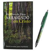 CTA, Inc., Colossians 2:7 Hombre De Dios Spanish Pen & Devotional Book, 4 1/4 x 6 3/4 inches