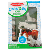 Melissa & Doug, Decorate Your Own Horse Figurines Kit, 2 and 4 Inches High, Ages 8 and up