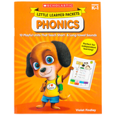 Scholastic, Little Learner Packets: Phonics Activity Book, Reproducible, 96 Pages, Grades PreK-K