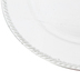 Silver Leaf Brushed Metallic Plate Charger, Plastic, 13 inches