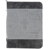 Divinity Boutique, Names of God Bible Cover, Duo-Tone, Black and Gray, Multiple Sizes Available