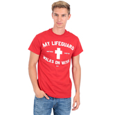 Kerusso, My Lifeguard Walks on Water, Men's T-Shirt, Red, S-XL