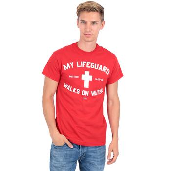 Kerusso, My Lifeguard Walks on Water, Men's T-Shirt, Red, S-XL