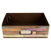 Teacher Created Resources, Reclaimed Wood Storage Bin, Brown, 5 x 16 x 11 inches