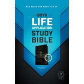NLT Boys Life Application Study Bible, Imitation Leather, Multiple Colors Available
