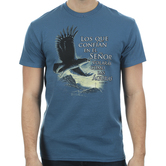 Kerusso, Isaiah 40:31 Eagle (Spanish), Men's Short Sleeve T-shirt, Denim Blue, S-3XL