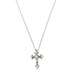 Bella Grace, Cross with Pearls Pendant Necklace, Silver, 18-inch Chain