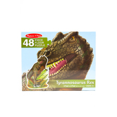 Melissa & Doug, T-Rex Shaped Floor Puzzle, Ages 3 to 6 Years Old, 48 Pieces