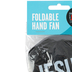 Swanson, Names of Jesus Folding Hand Fan, Black, 10 inches with 3 1/2 x 3 3/4 inch Case