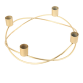 Round Advent Candle Holder, Metal, Gold-tone, 9 inches