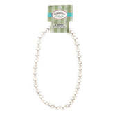 Creations of Grace, Pearl Bead Necklace, Acrylic, Ivory, 8 1/4 inches
