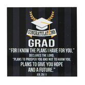 Dicksons, Jeremiah 29:11 Congratulations Grad Magnet, 2 1/2 x 2 1/2 inches