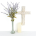 Damask Engraved Wall Cross, Resin, Tan, 15 1/2 x 10 1/2 x 1 inches
