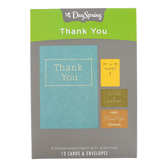 DaySpring, Simply Stated Boxed Thank You Cards, 12 Cards with Envelopes