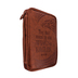 Dicksons, Wings As Eagles Bible Cover, Leather-like, Brown, Large