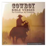 DaySpring, Cowboy Bible Verses 2021 Wall Calendar, by Kevin Weatherby, High Quality Paper, 12 x 12 inches