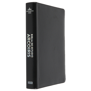 RVR 1960 Rainbow Spanish Study Bible, Imitation Leather, Black, Thumb Indexed