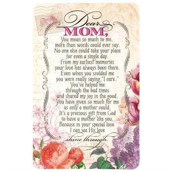 Dicksons, Dear Mom Pocket Card, Coated Card Stock, 2 1/2 x 4 inches